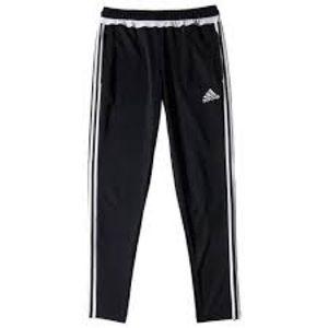 Adidas 3 Stripe Track Pants Black White Ankle Zip